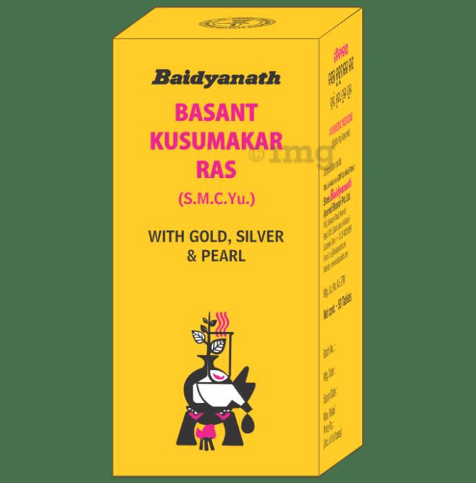 Baidyanath Basant Kusumakar Ras with Gold, Silver & Pearl