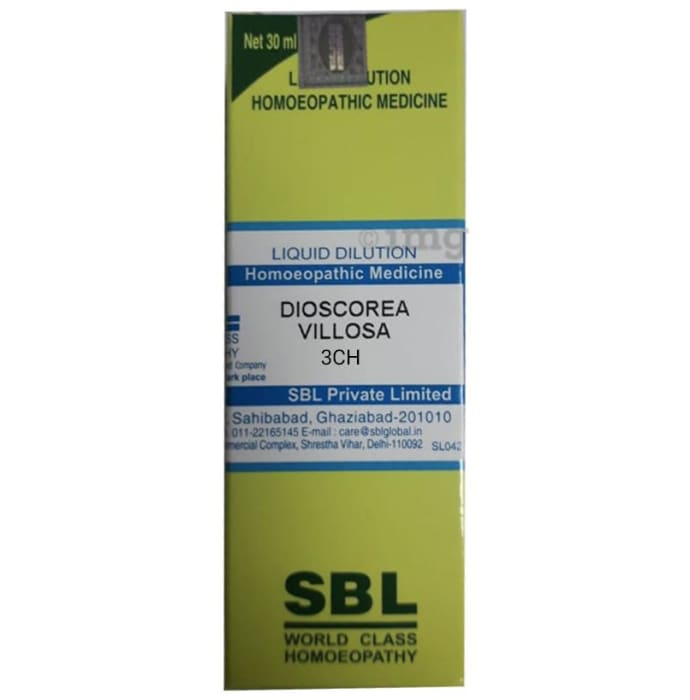 SBL Dioscorea Villosa Dilution 3 CH