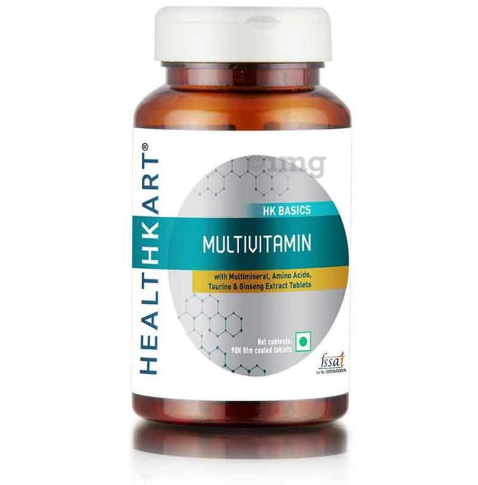 HealthKart Multivitamin with Multimineral,Amino Acid,Taurine & Ginseng Extract Tablet