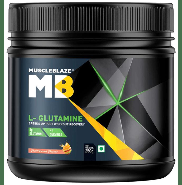MuscleBlaze Micronized Glutamine Powder Fruit Punch