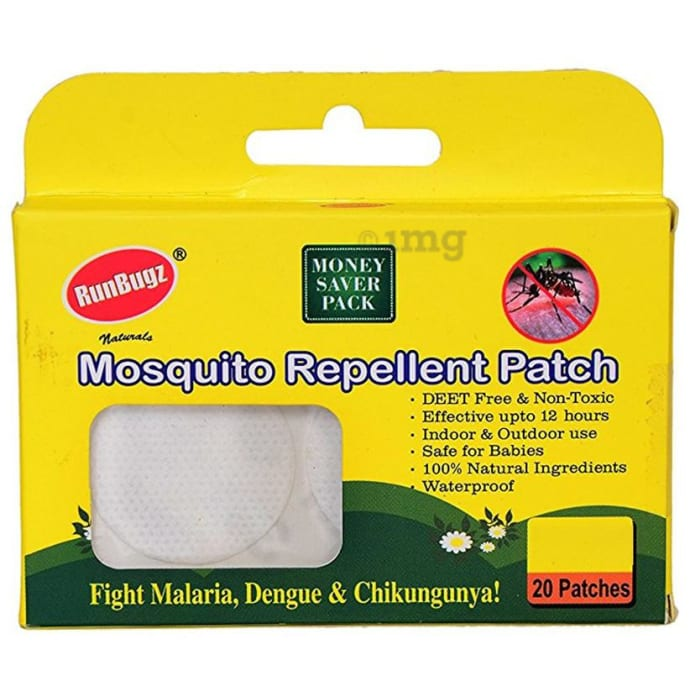 Runbugz Mosquito Repellent Patch White