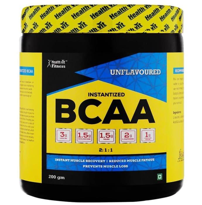 HealthVit Fitness Instantized BCAA 2:1:1 Powder Unflavoured