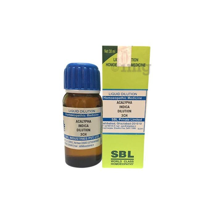 SBL Acalypha Indica Dilution 3 CH