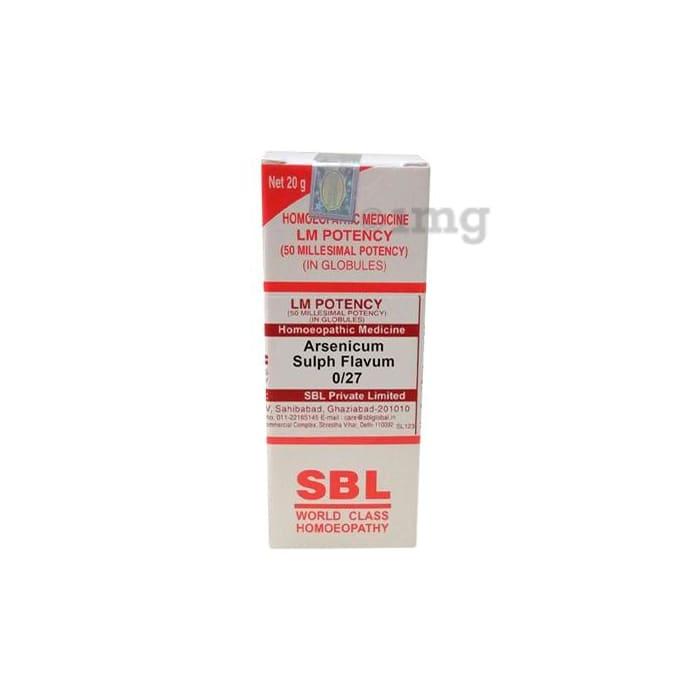 SBL Arsenicum Sulph Flavum 0/27 LM