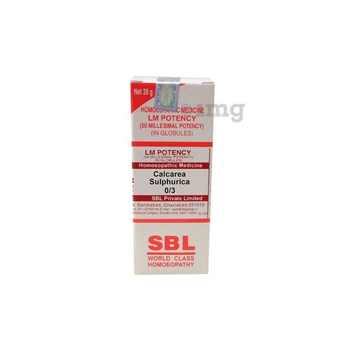 SBL Calcarea Sulphurica 0/3 LM
