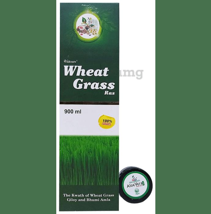 Shri Nath Wheat Grass Ras with Aloe Vera Gel 10gm free