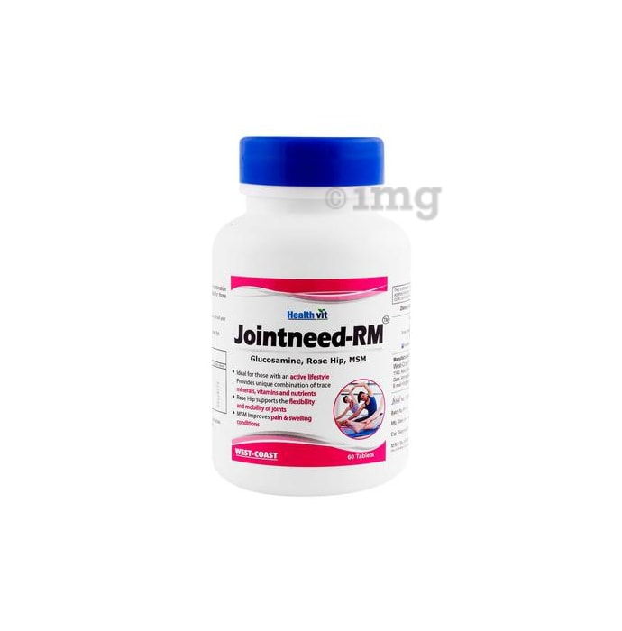 HealthVit Jointneed-RM  Glucosamine 500mg, Rose Hip 50mg, MSM 250mg Tablet