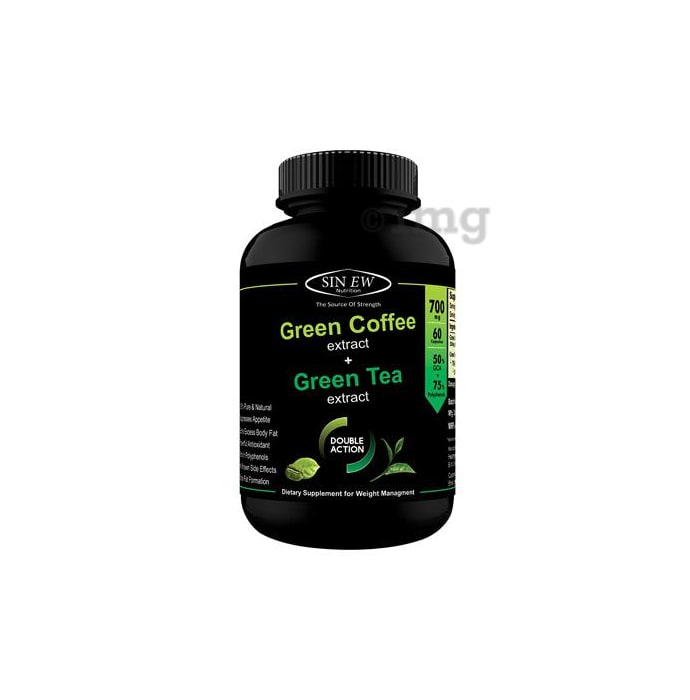 Sinew Nutrition Green Tea and Green Coffee Extract 700mg Capsule