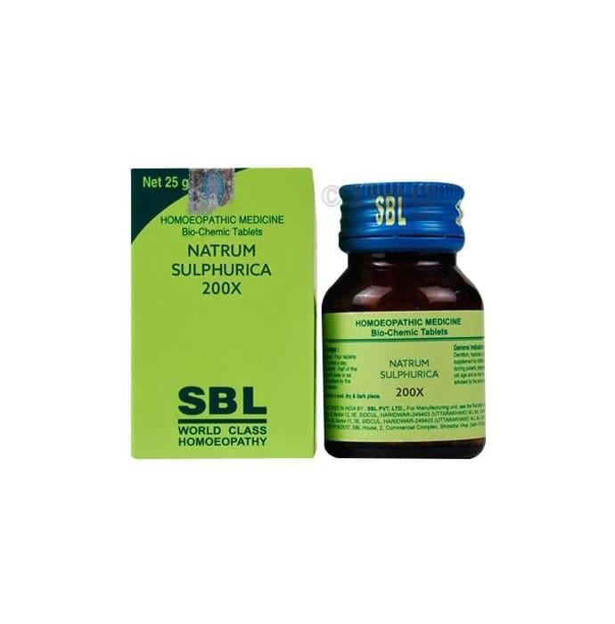 SBL Natrum Sulphurica Biochemic Tablet 200X