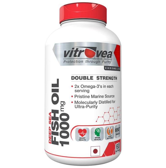 Vitrovea Double Strength Fish Oil 1000mg Softgels