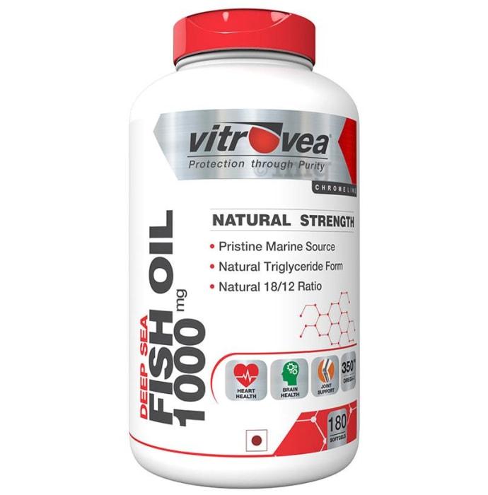Vitrovea Natural Strength Fish Oil 1000mg Softgels