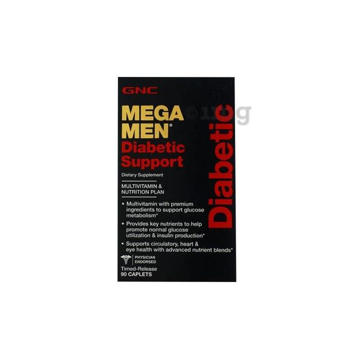 GNC Mega Men Diabetic Support Multivitamin Caplet