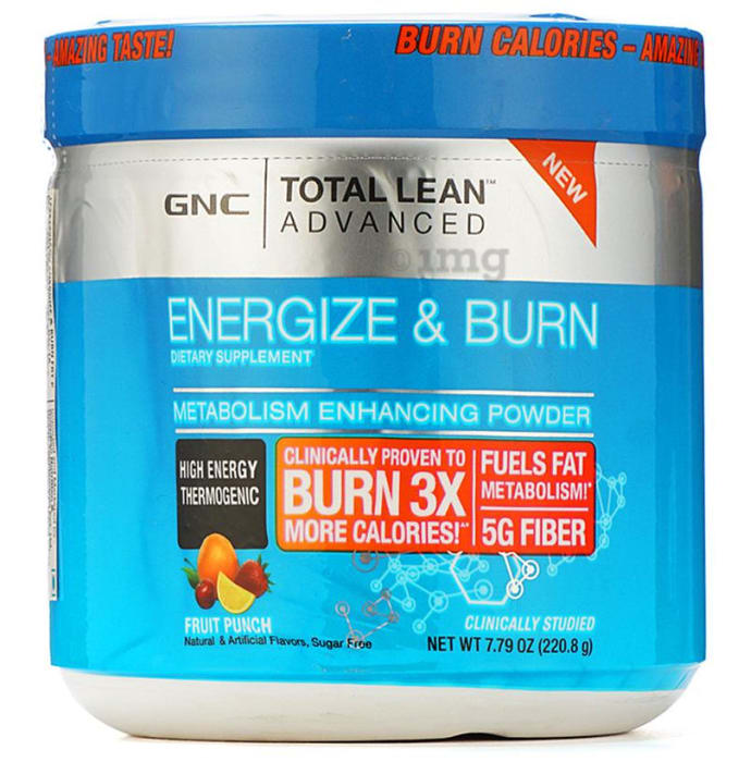 GNC Total Lean Advanced Energize Burn Powder Fruit Punch