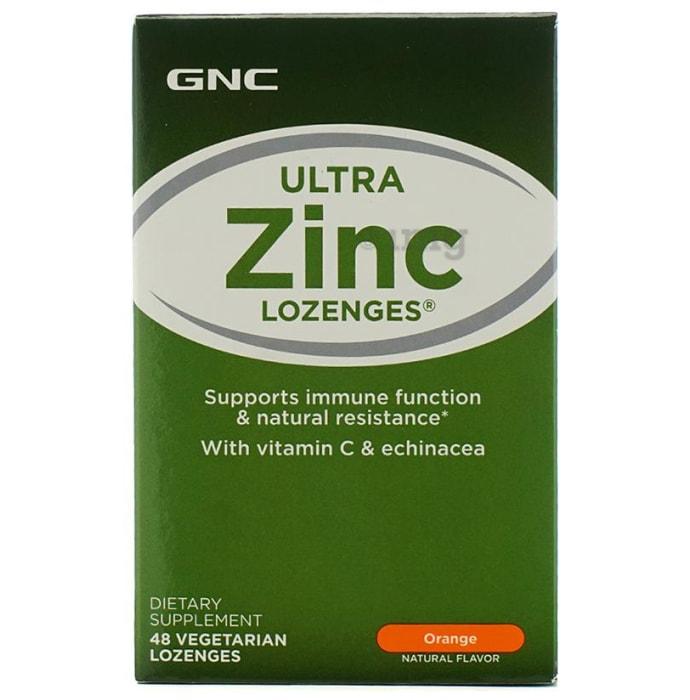 GNC Ultra Zinc Lozenges with Vitamin C and Echinacea Orange