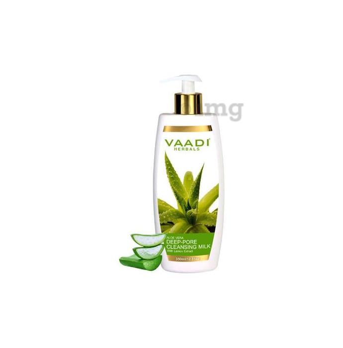 Vaadi Herbals Aloe Vera Deep Pore Cleansing Milk with Lemon extract