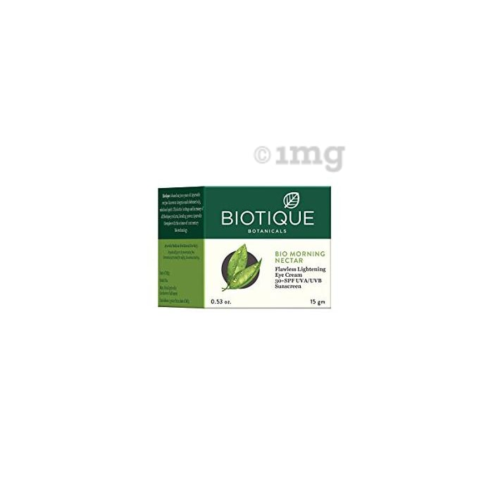 Biotique Bio Morning Nectar Flawless Lightening Eye Cream SPF 30 UVA/UVB