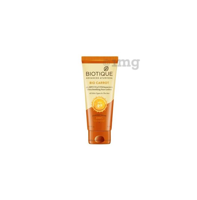 Biotique Bio Carrot Face & Body Sun Lotion SPF 40 Sunscreen for all Skin Types