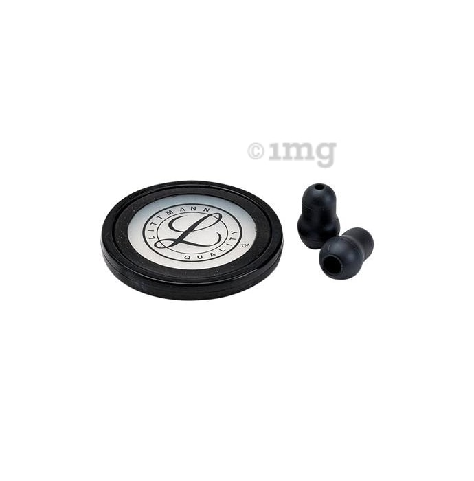 3M Littmann Stethoscope Spare Parts Kit, Master Cardiology , Black, 40011
