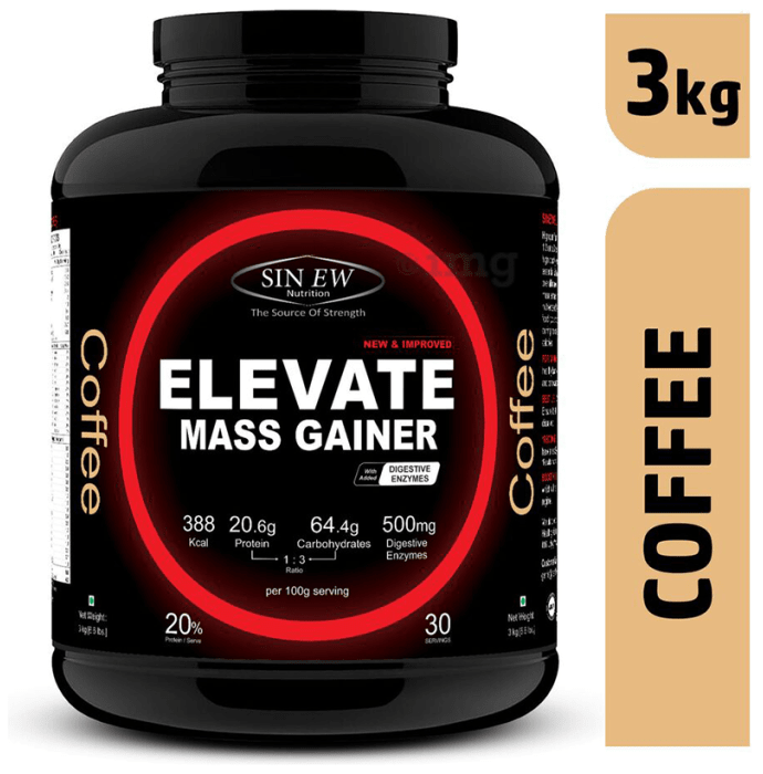 Sinew Nutrition Elevate Mass Gainer with DigiEnzymes Coffee