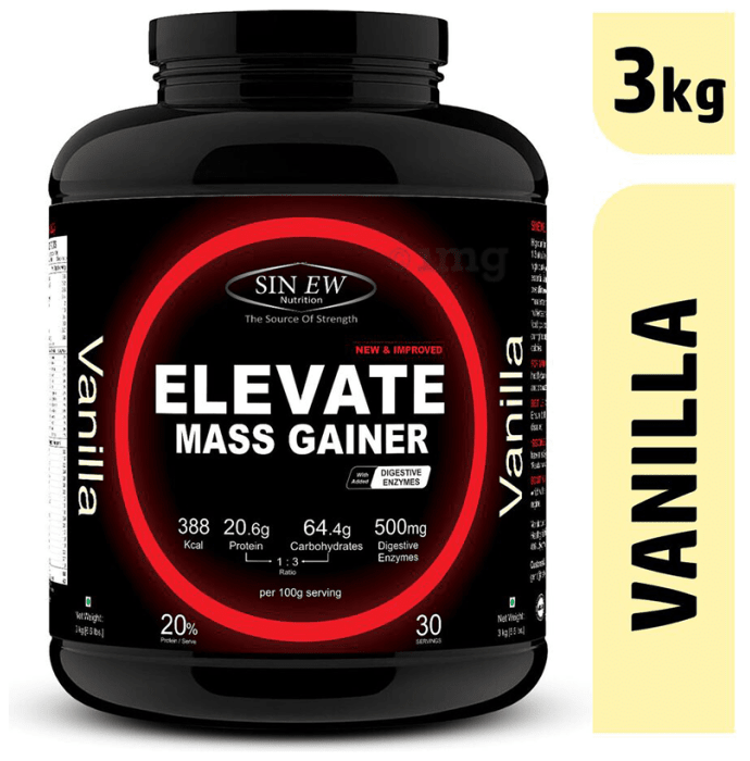 Sinew Nutrition Elevate Mass Gainer with DigiEnzymes Vanilla