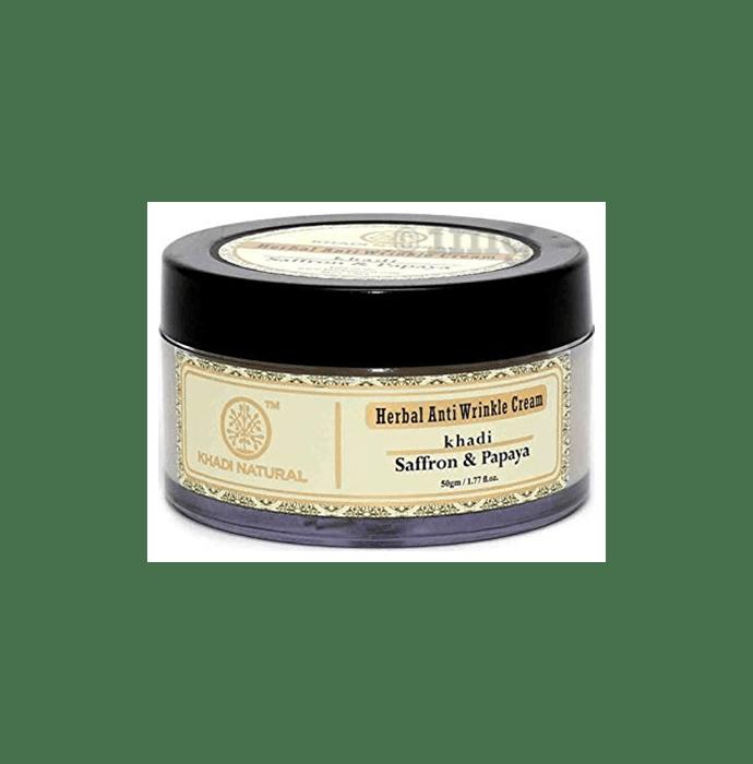 Khadi Naturals Ayurvedic Saffron & Papaya Anti Wrinkle Cream