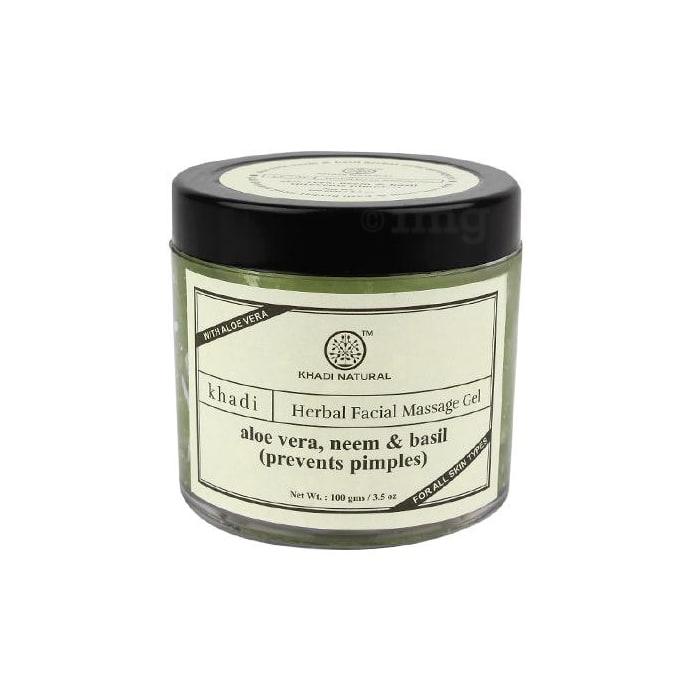 Khadi Naturals Ayurvedic Aloe Vera, Neem & Basil Facial Massage Gel