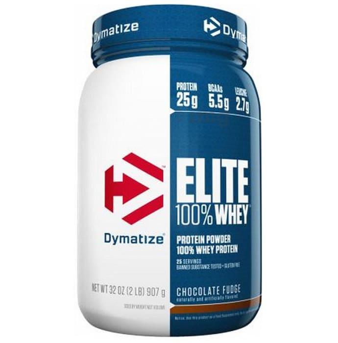Dymatize Nutrition Elite 100% Whey Protein Powder Chocolate Fudge