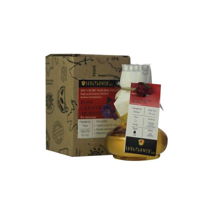 Soulflower Geranium Aroma Massage Oil