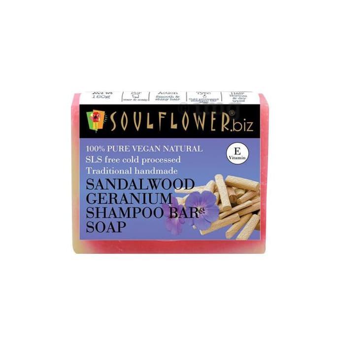 Soulflower Sandalwood Geranium Shampoo Bar Soap