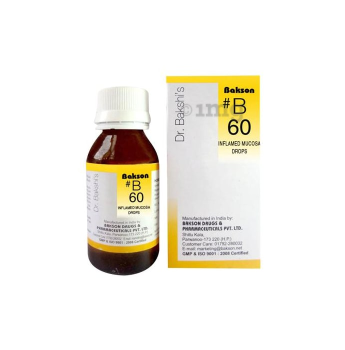 Bakson's B60 Inflamed Mucosa Drop