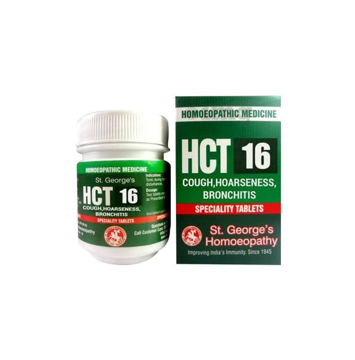St. George's HCT 16 Cough, Hoarseness, Bronchitis Tablet
