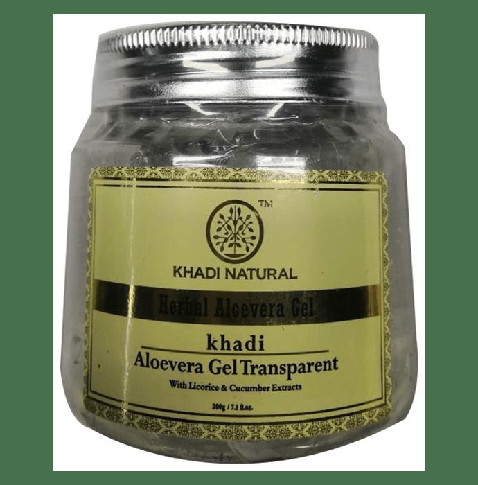 Khadi Naturals Ayurvedic Aloevera Gel with Liqorice and Cucumber Extracts Transparent