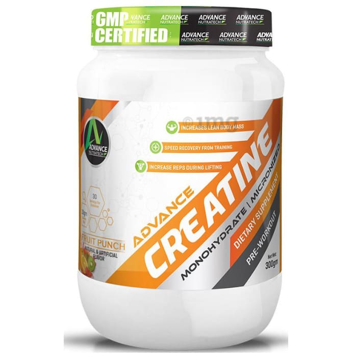 Advance Nutratech Creatine Monohydrate Powder Fruit Punch