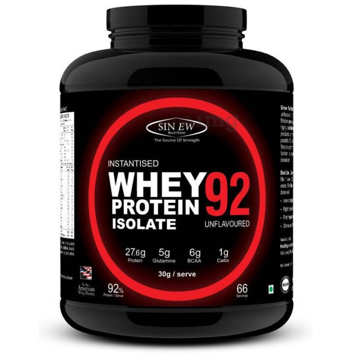 Sinew Nutrition Instantised Whey Protein Isolate 92% Unflavoured