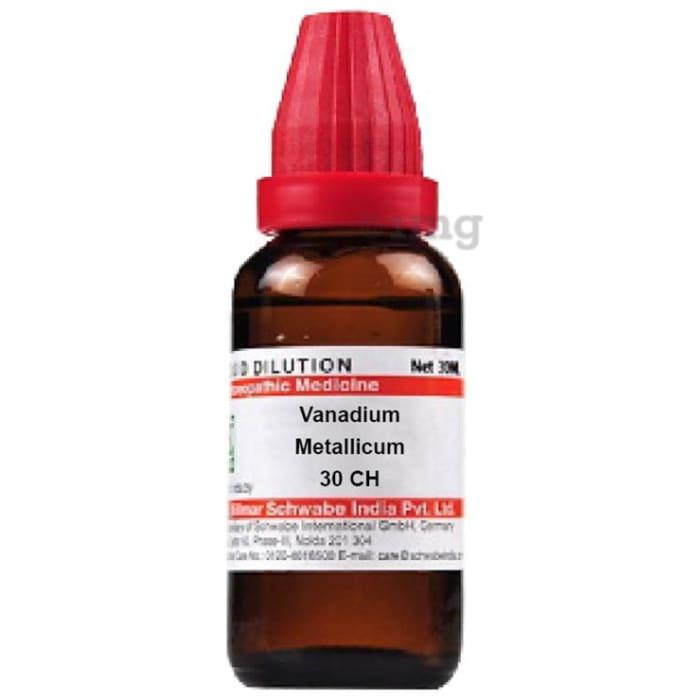 Dr Willmar Schwabe India Vanadium Metallicum Dilution 30 CH