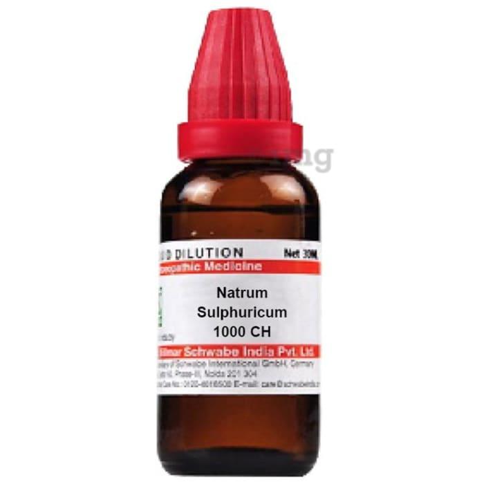 Dr Willmar Schwabe India Natrum Sulphuricum Dilution 1000 CH