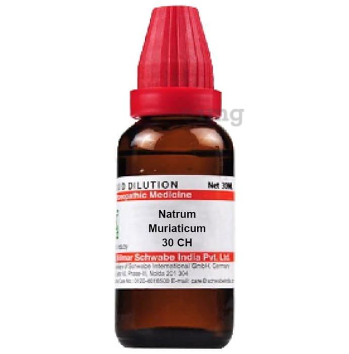 Dr Willmar Schwabe India Natrum Muriaticum Dilution 30 CH