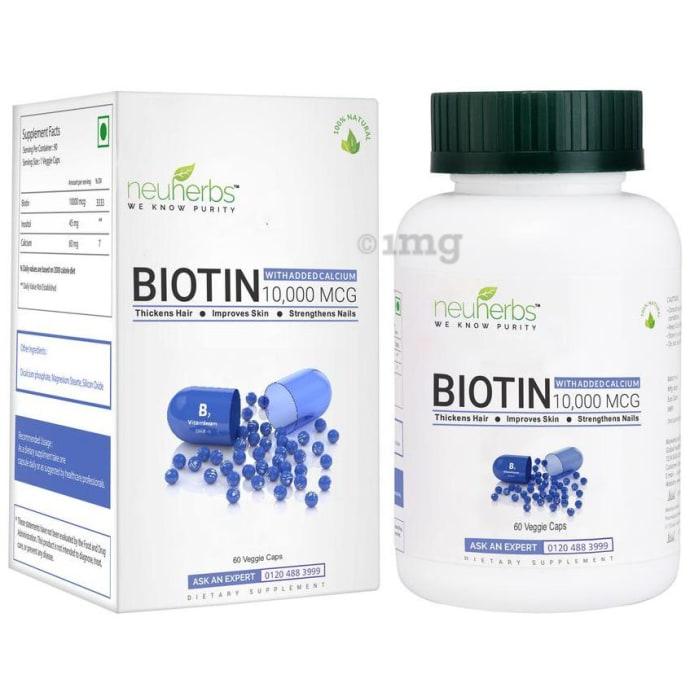 Neuherbs Biotin 10000 mcg Veg  Capsule