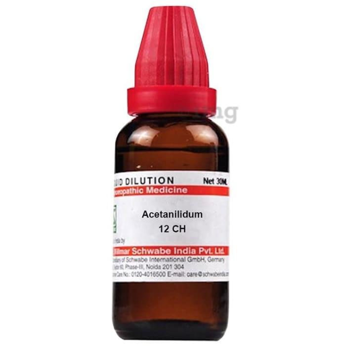 Dr Willmar Schwabe India Acetanilidum Dilution 12 CH