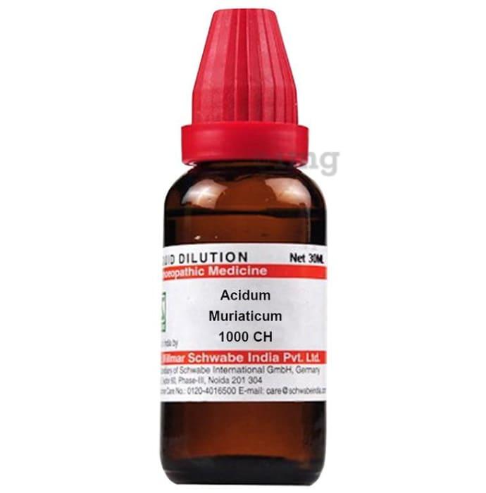 Dr Willmar Schwabe India Acidum Muriaticum Dilution 1000 CH