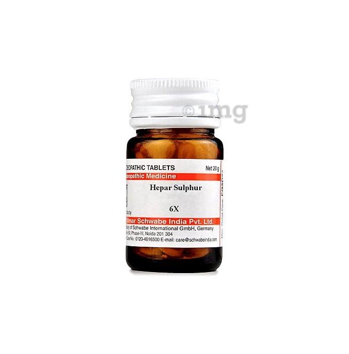 Dr Willmar Schwabe India Hepar Sulphur Trituration Tablet 6X