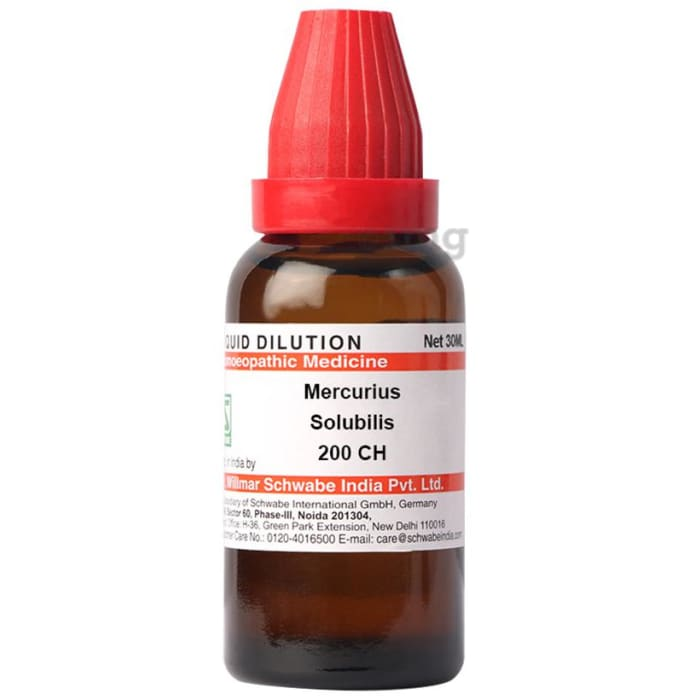 Dr Willmar Schwabe India Mercurius Solubilis Dilution 200 CH