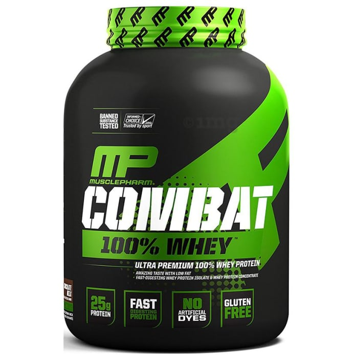Muscle Pharm Combat 100% Whey Protein Powder Chocolate Milk