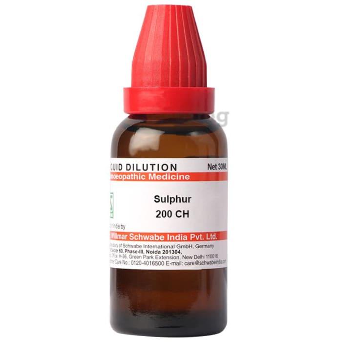Dr Willmar Schwabe India Sulphur Dilution 200 CH