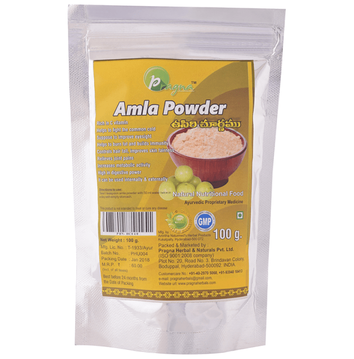 Pragna Amla Powder Pack of 2