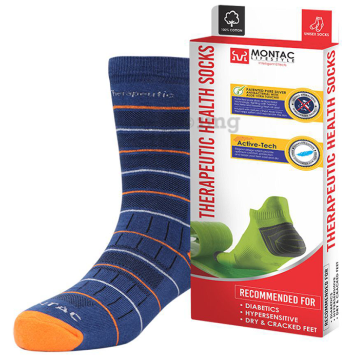 Montac Lifestyle Therapeutic Health Socks Blue