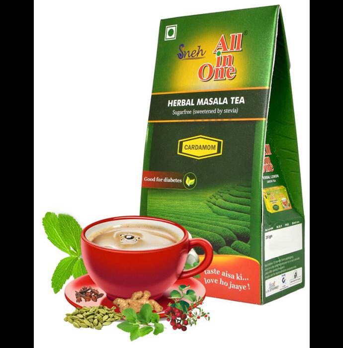 Sneh All in One Herbal Masala Tea Sugar Free Cardamom