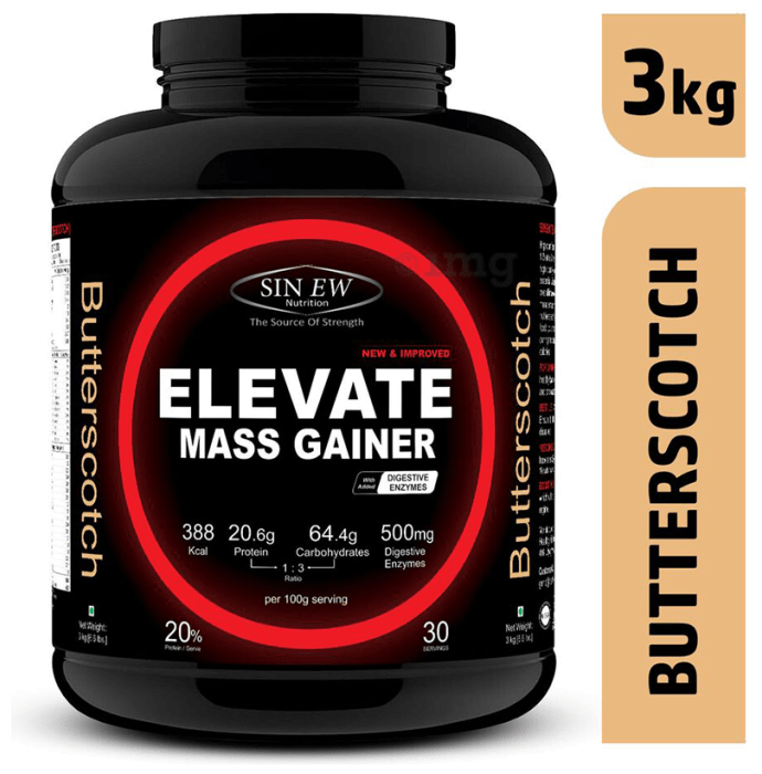 Sinew Nutrition Elevate Mass Gainer with DigiEnzymes Butterscotch