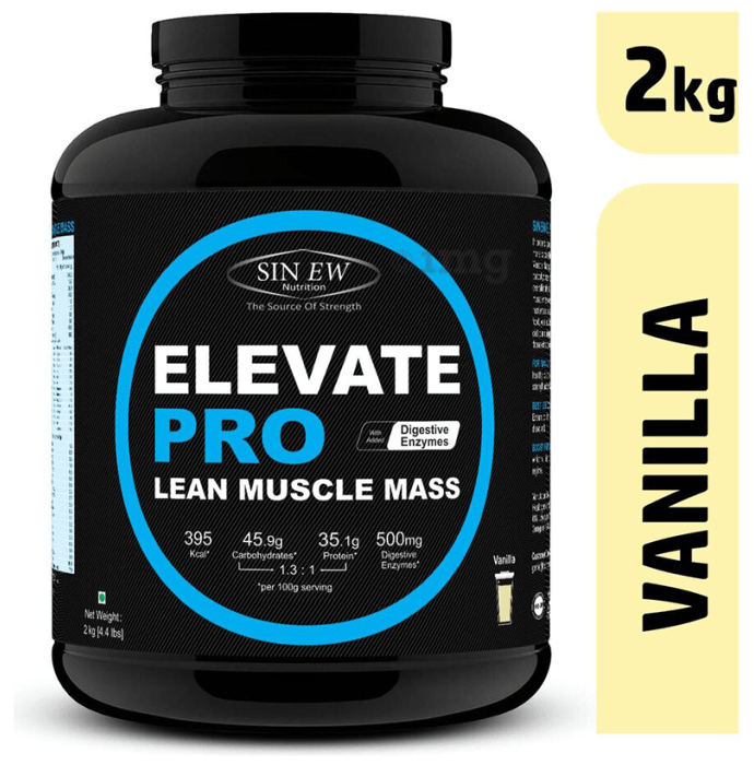 Sinew Nutrition Elevate Pro Lean Muscle Mass Vanilla