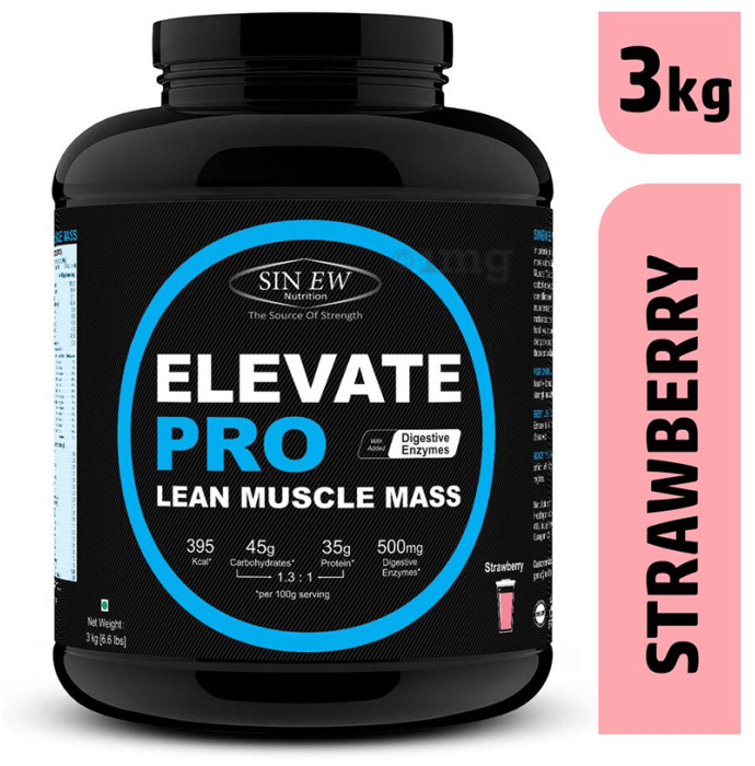 Sinew Nutrition Elevate Pro Lean Muscle Mass Strawberry